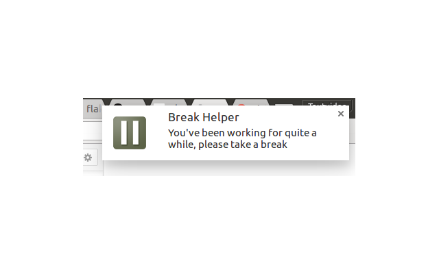 Break Helper's old break notification