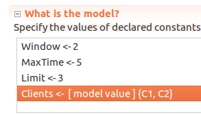 Multi-client Throttling: TLC model values